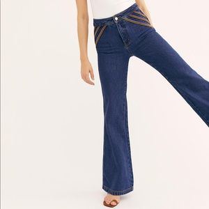 We The Free Over the Rainbow Embroidered Jeans 28